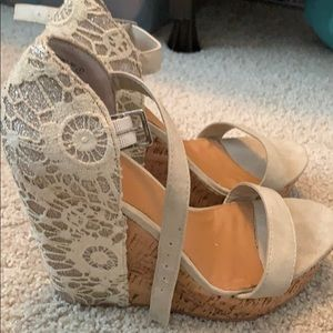 Not Rated Lace Wedges